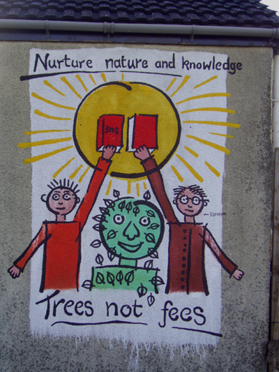 hands off our forest mural